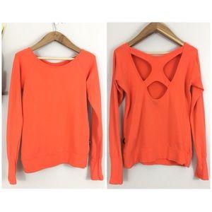 Splits59 Pose Pullover Sweatshirt Top Orange